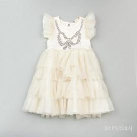 Sukienka cekinowa kokarda