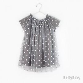 sukienka grochy grey