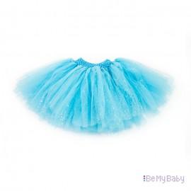 Spódnica tiulowa koronka niebieska