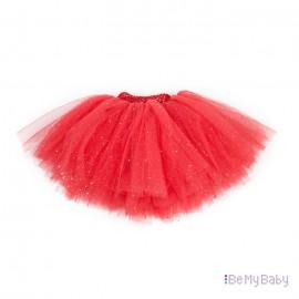 Spódnica Tiulowa PomPon czerwona