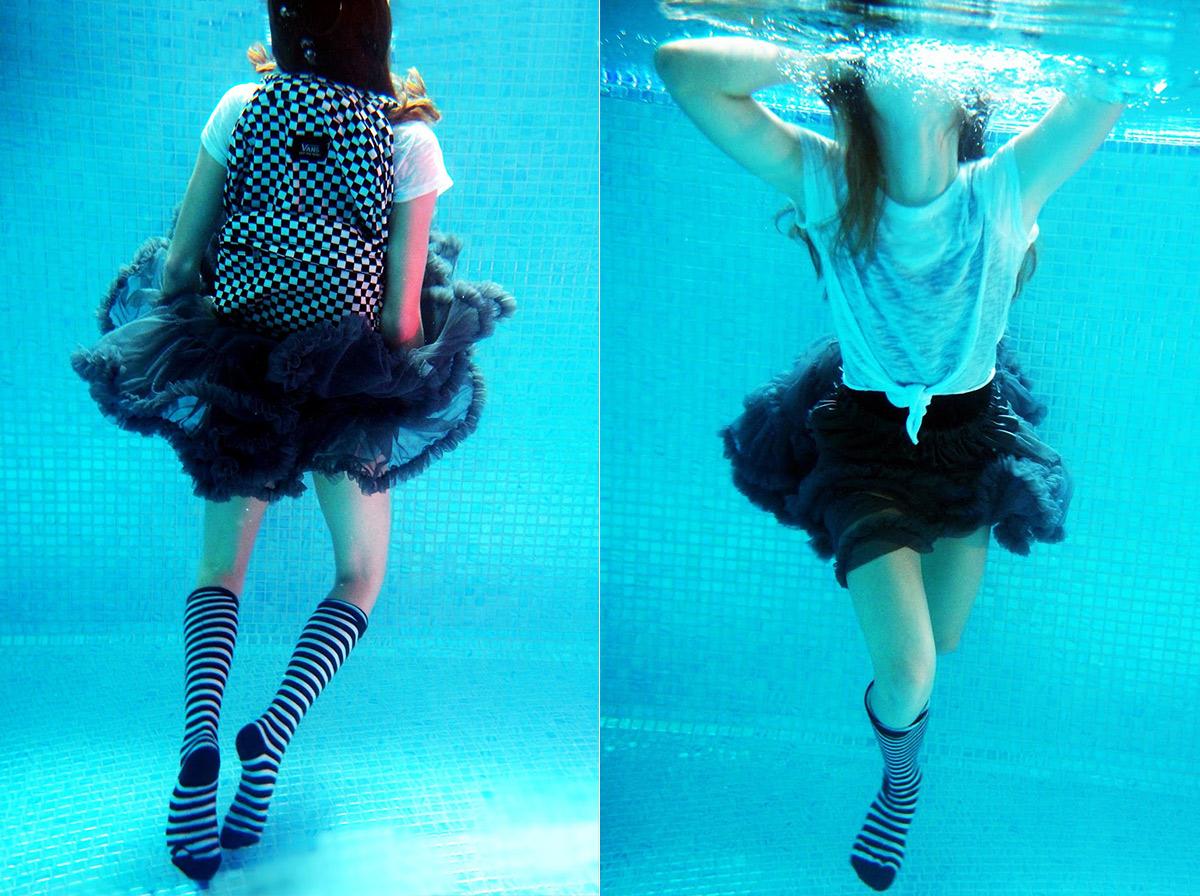 dwarazyw bemybaby pettiskirt pod wodą