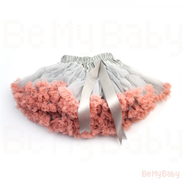 Petti Tutu Grey/Peach